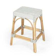 Evoking images of sidewalk tables in the Cote d'Azur, counter stools like this will give your kitchen, dining area, or covered patio the casual sophistication of a Mediterranean coastal bistro. Expertly crafted from thick bent rattan for superb durability