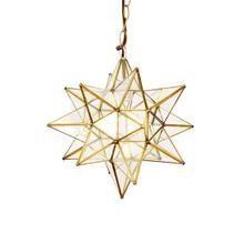 This Hand-crafted Moravian Star Pendant Illuminates Your Home With Whimsical Sparkle. Brass Finish and Clear Glass Panes Have Classic Appeal, and Petite Scaling Makes It Just the Right Touch for an Intimate Dining Room, Boudoir, or Powder Room. for Added Drama, Group With Our Various Size Offerings To Create and Ethereal Star SCAPE.