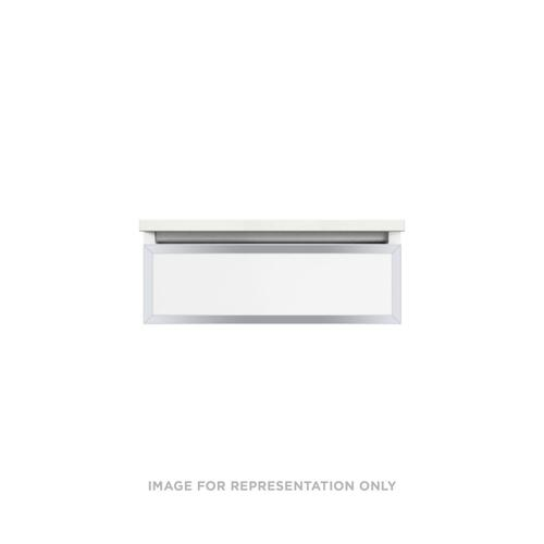 """Profiles 24-1/8"""" X 7-1/2"""" X 18-3/4"""" Modular Vanity In Beach With Chrome Finish, Slow-close Plumbing Drawer and Selectable Night Light In 2700k/4000k Color Temperature (warm/cool Light)"""