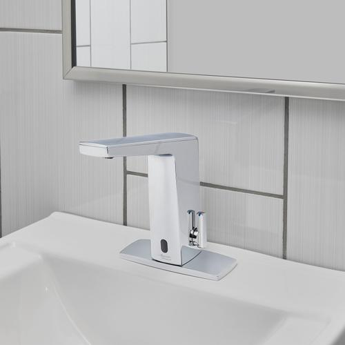 American Standard - Paradigm Selectronic Faucet with Above Deck Mixing and SmarTherm Safety Shut Off - Base Model - 0.5 GPM  American Standard - Polished Chrome