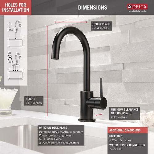 Product Image - Matte Black True Bar Limited Swivel