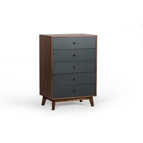 VIG Furniture - Nova Domus Dali Modern Grey & Walnut Chest