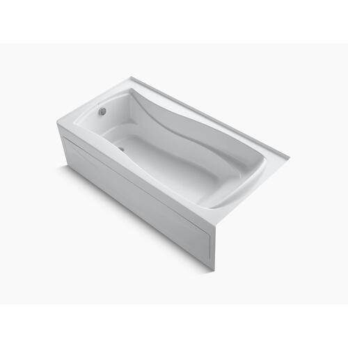 "White 72"" X 36"" Alcove Bath With Bask Heated Surface, Integral Apron, Integral Flange, and Left-hand Drain"