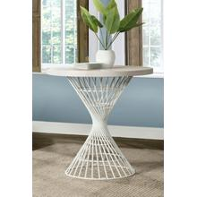 See Details - Kanister Round Counter Height Dining Table - White