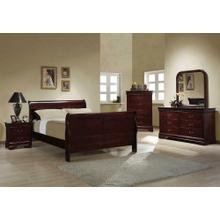 Louis Philippe Traditional Red Brown Full Five-piece Set