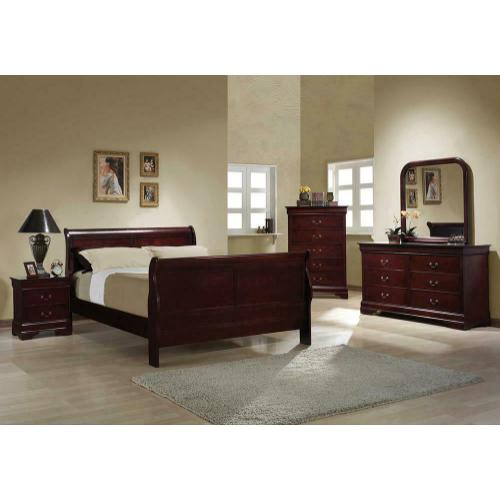 Product Image - Louis Philippe Traditional Red Brown Full Five-piece Set