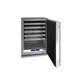 "24"" Wine Refrigerator With Stainless Solid Finish (115 V/60 Hz Volts /60 Hz Hz)"