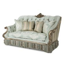 Vivienne Wood Trim Loveseat Platinum