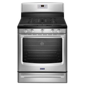 MAYTAG30-inch Wide Gas Range with Convection and Power Burner - 5.8 cu. ft.