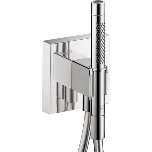 "Chrome Handshower Holder with Outlet 5"" x 5"" with Handshower, 2.0 GPM"