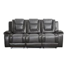 View Product - Double Reclining Sofa with Drop-Down Cup Holders