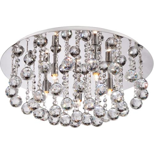 Quoizel - Bordeaux With Clear Crystal Flush Mount in Polished Chrome