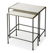 """Do you have space issues in your home"""" These iron and marble nesting tables have and attractive white marble top, their uses are numeral. These tables have been made using quality materials; in a contemporary style. Just use them and then tuck them away. Indeed they are a must have for home that have space issues, after use you can neatly tuck them away"""