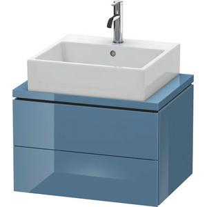 Vanity Unit For Console Compact, Stone Blue High Gloss (lacquer)