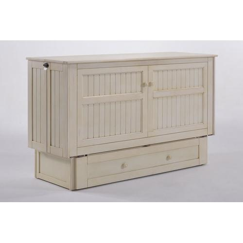 Night and Day Furniture - Daisy Murphy Cabinet Bed in Buttercream Finish