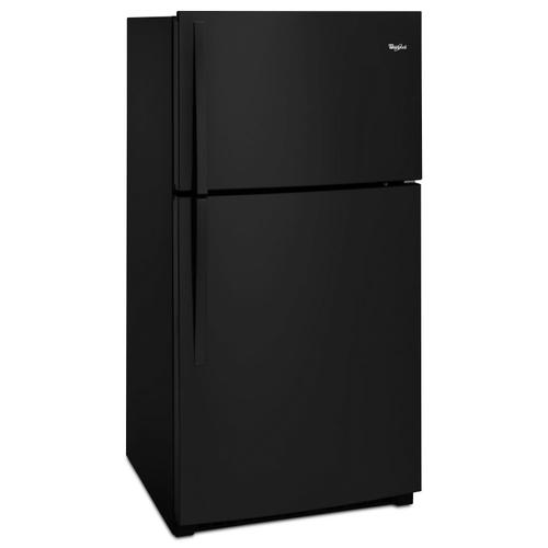 33-inch Wide Top Freezer Refrigerator - 21 cu. ft. Black