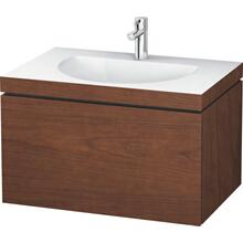 Furniture Washbasin C-bonded With Vanity Wall-mounted, American Walnut (real Wood Veneer)