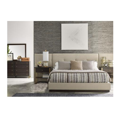Austin by Rachael Ray Upholstered Wall Bed w/Panels, King 6/6