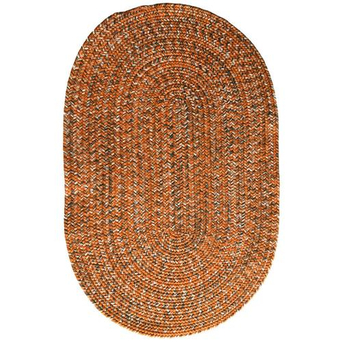 Team Spirit Orange Grey Braided Rugs