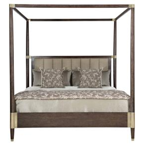 King Clarendon Canopy Bed in Arabica (377)