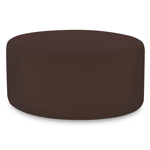 Universal Round Ottoman Seascape Chocolate