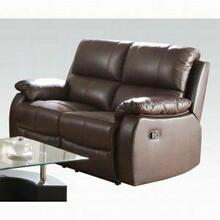 ACME Enoch Loveseat (Motion) - 52451 - Dark Brown Top Grain Leather Match
