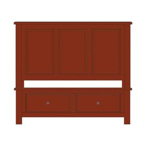 Panel Bed with Footboard Storage