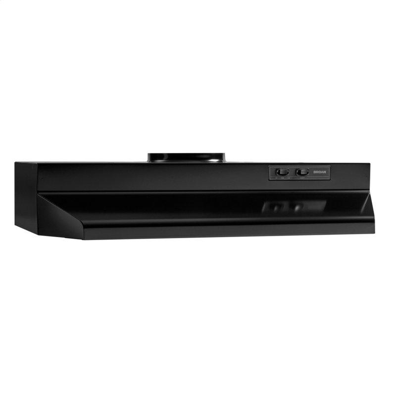 Broan® 30-Inch Under-Cabinet Range Hood, Black