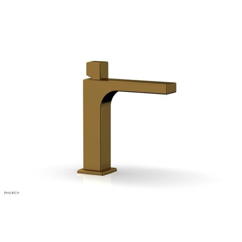 MIX Single Hole Lavatory Faucet, Cube Handle 290-08 - French Brass