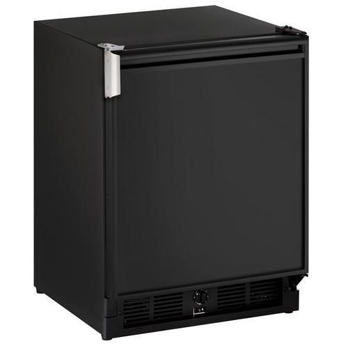 "U-Line - 21"" Refrigerator/ice Maker With Black Solid Finish (230 V/50 Hz Volts /50 Hz Hz)"