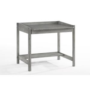 Night and Day Furniture - Zest Student Desk in Rustic Gray Finish