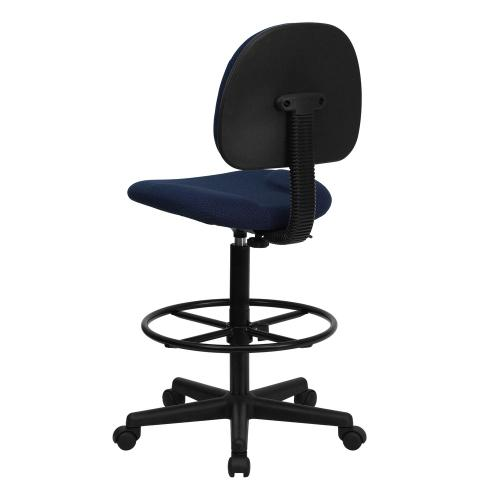 Alamont Furniture - Navy Blue Patterned Fabric Drafting Chair (Cylinders: 22.5''-27''H or 26''-30.5''H)