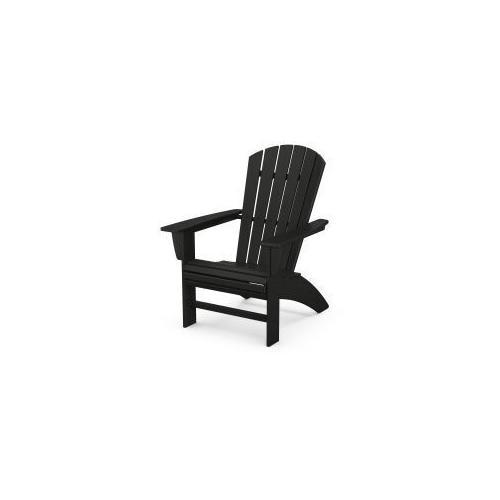 Polywood Furnishings - Nautical Curveback Adirondack Chair in Black