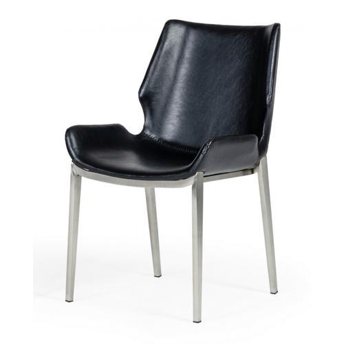 VIG Furniture - Modrest Tina - Modern Black Eco-Leather Dining Chair (Set of 2)