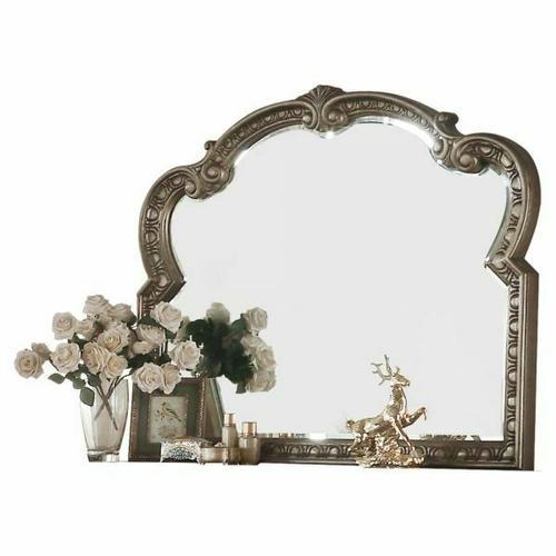 ACME Northville Mirror - 26936 - Antique Silver