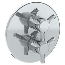 """See Details - Wall Mounted Thermostatic Shower Trim With Built-in Control, 7 1/2"""""""