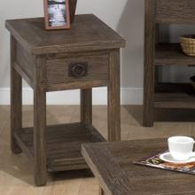 Chairside Table W/ Drawer and Shelf