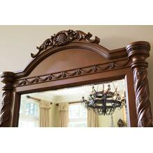 North Shore Bedroom Mirror Dark Brown