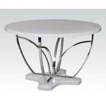 View Product - Wh/chrome Dining Table