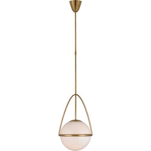 Visual Comfort - AERIN Lisette LED 13 inch Hand-Rubbed Antique Brass Globe Pendant Ceiling Light, Medium