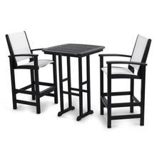 Black & White Coastal 3-Piece Bar Set