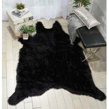 "Fur Fl101 Black 60"" X 84"" Throw Blanket"