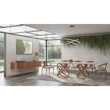 View Product - Modrest Mason Modern Glass & Walnut Dining Table