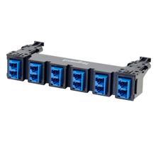See Details - HDJ Series 6 LC Duplex to LC Duplex Fiber Adapter Panel, 12-Fiber OS2 - Blue
