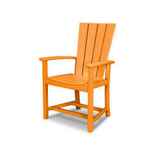 View Product - Quattro Adirondack Dining Chair in Tangerine