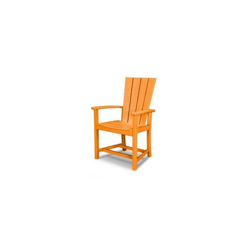 Polywood Furnishings - Quattro Adirondack Dining Chair in Tangerine