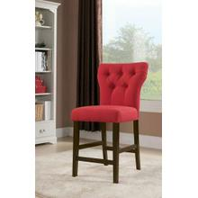 ACME Effie Counter Height Chair (Set-2) - 71525 - Red Linen & Walnut
