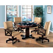 See Details - Marietta Casual Tobacco Dining/game Table and Four Chairs