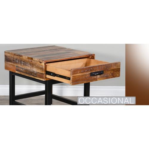 Havana End Table (Wood Base)