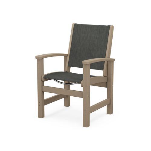Coastal Dining Chair in Vintage Sahara / Ember Sling